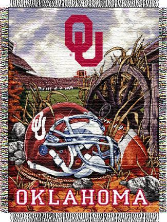 "Oklahoma Sooners ""Home Field Advantage"" 48"" x 60"" Throw Blanket"