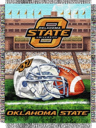 Oklahoma State Cowboys Home Field Advantage 48 x 60 Throw Blanket