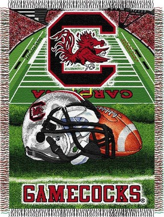 "South Carolina Gamecocks ""Home Field Advantage"" 48"" x  60"" Tapestry Throw Blanket"