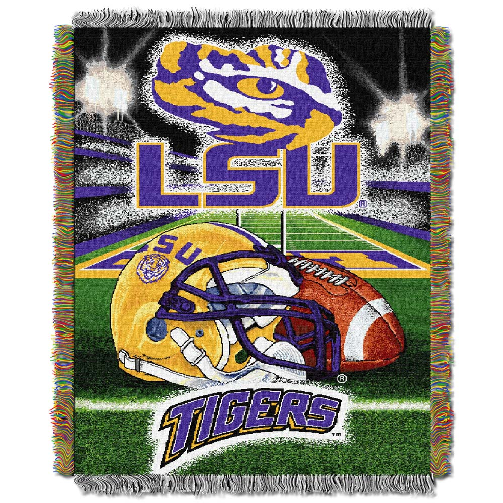 Louisiana State LSU Tigers Home Field Advantage 48 x 60 Throw Blanket