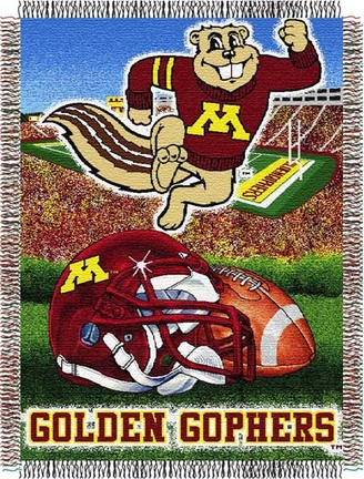 Minnesota Golden Gophers Home Field Advantage 48 x 60 Throw Blanket