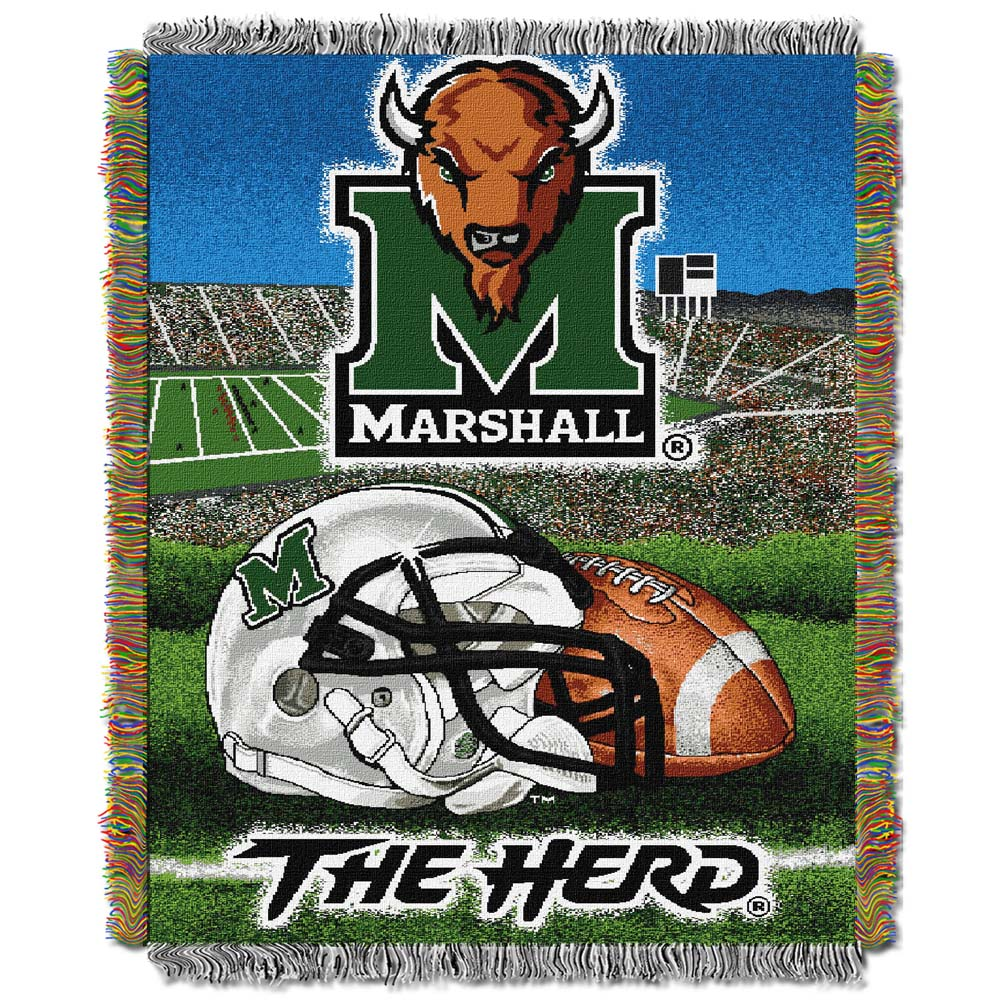 "Marshall Thundering Herd ""Home Field Advantage"" 48"" x  60"" Tapestry Throw Blanket"