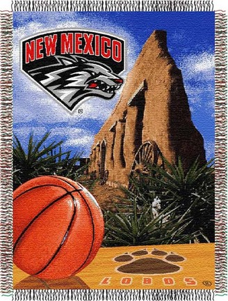 "New Mexico Lobos ""Home Court Advantage"" 48"" x  60"" Tapestry Throw Blanket"