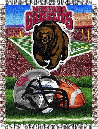"Montana Grizzlies ""Home Field Advantage"" 48"" x  60"" Tapestry Throw Blanket"