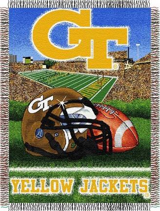 "Georgia Tech Yellow Jackets ""Home Field Advantage"" 48"" x  60"" Tapestry Throw Blanket"