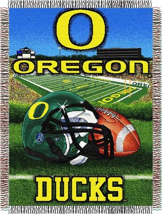 Oregon Ducks Home Field Advantage 48 x 60 Throw Blanket