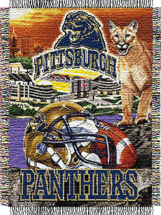 """Pittsburgh Panthers """"Home Field Advantage"""" 48"""" x 60"""" Throw Blanket"""
