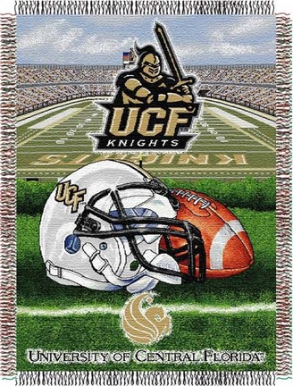 """UCF (Central Florida) Knights """"Home Field Advantage"""" 48"""" x 60"""" Tapestry Throw Blanket"""