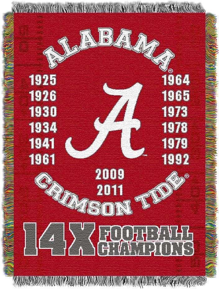 "Alabama Crimson Tide ""Commemorative"" 48"" x  60"" Tapestry Throw Blanket"