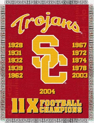 Usc Trojans Commemorative 48 X  60 Tapestry Throw Blanket