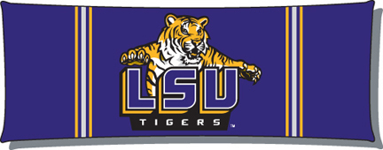 Louisiana State LSU Tigers NCAA Licensed 19 x 54 Body Pillow