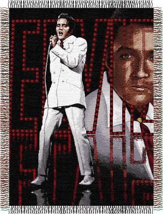 """Elvis Presley """"68"""" 48"""" x 60"""" Tapestry Throw Blanket"""