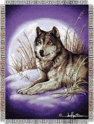 """Hautman Brothers """"Moon Called"""" 48"""" x 60"""" Tapestry Throw Blanket"""