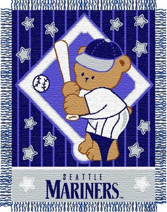 "Seattle Mariners ""Baby"" 36� x 46� Triple Woven Jacquard Throw Blanket"