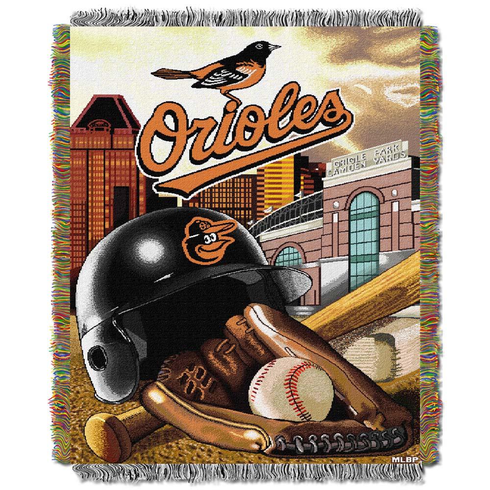 "Baltimore Orioles ""Home Field Advantage"" 48"" x 60"" Throw Blanket"