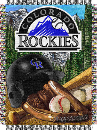 Colorado Rockies  Home Field Advantage 48 x 60 Throw Blanket