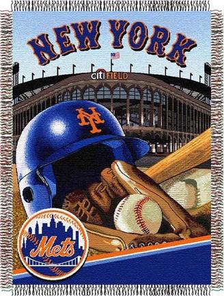 New York Mets Home Field Advantage 48 x 60 Throw Blanket