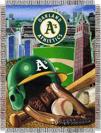 "Oakland Athletics ""Home Field Advantage"" 48"" x 60"" Throw Blanket"