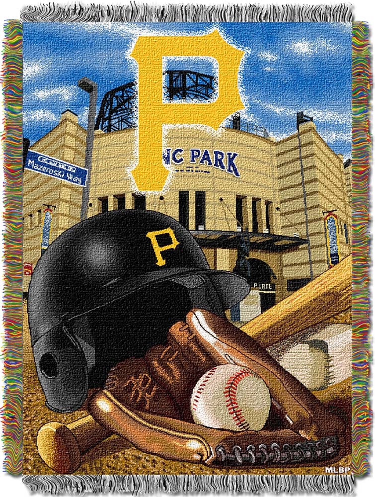 "Pittsburgh Pirates ""Home Field Advantage"" 48"" x  60"" Tapestry Throw Blanket"