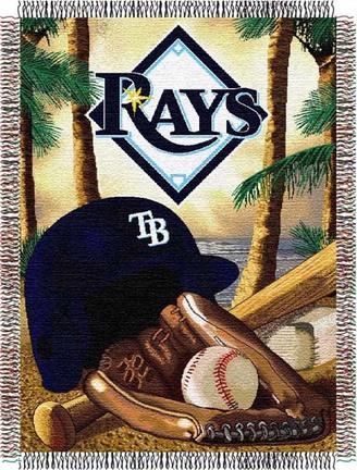 "Tampa Bay Rays """"Home Field Advantage"""" 48"""" x 60"""" Throw Blanket"" NW-1MLB051010028RET"