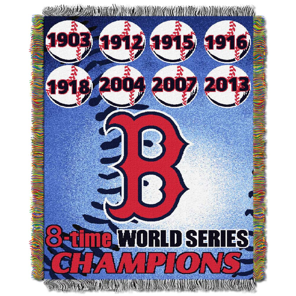 """Boston Red Sox """"Commemorative"""" 48"""" x  60"""" Tapestry Throw Blanket"""