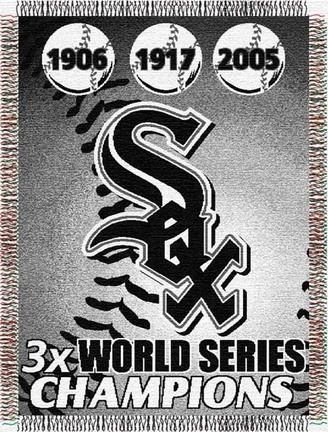 "Chicago White Sox ""Commemorative"" 48"" x  60"" Tapestry Throw Blanket"