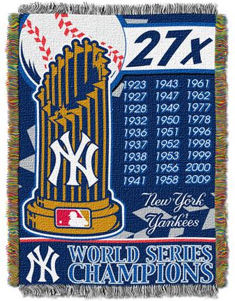 "New York Yankees ""Commemorative"" 48"" x  60"" Tapestry Throw Blanket"