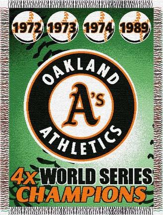 "Oakland Athletics ""Commemorative"" 48"" x  60"" Tapestry Throw Blanket"