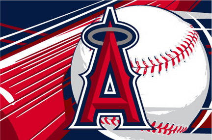Los Angeles Angels of Anaheim 39 x 59 Acrylic Tufted Rug