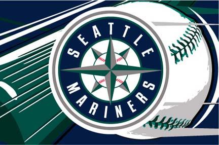 "Seattle Mariners 39"" x 59"" Acrylic Tufted Rug"