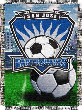 "San Jose Earthquakes MLS 48"" x 60"" Throw Blanket"