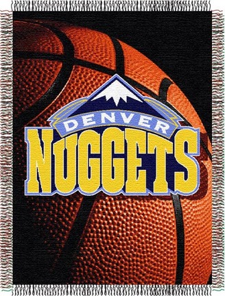 """Denver Nuggets """"Photo Real"""" 48""""x60"""" Tapestry Throw Blanket"""