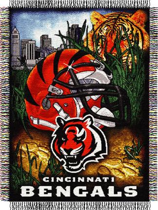 Cincinnati Bengals NFL Licensed Home Field Advantage 48 x 60 Throw Blanket