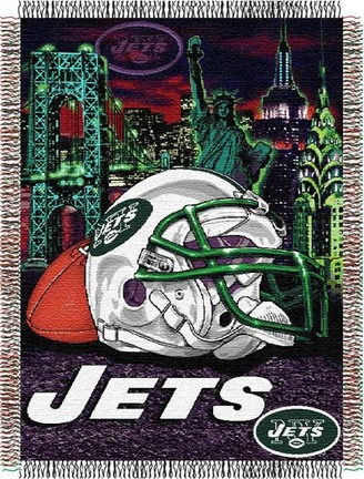 """Image of New York Jets """"Home Field Advantage"""" 48"""" x 60"""" Tapestry Throw Blanket"""