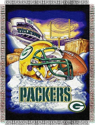 """Image of Green Bay Packers """"Home Field Advantage"""" 48"""" x 60"""" Tapestry Throw Blanket"""