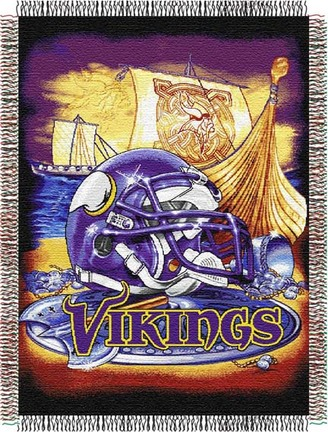 "Minnesota Vikings ""Home Field Advantage"" 48"" x  60"" Tapestry Throw Blanket"
