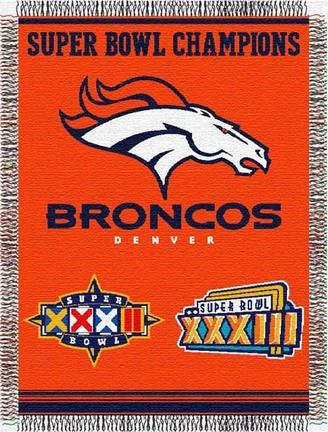 "Denver Broncos ""Commemorative"" 48"" x  60"" Tapestry Throw Blanket"