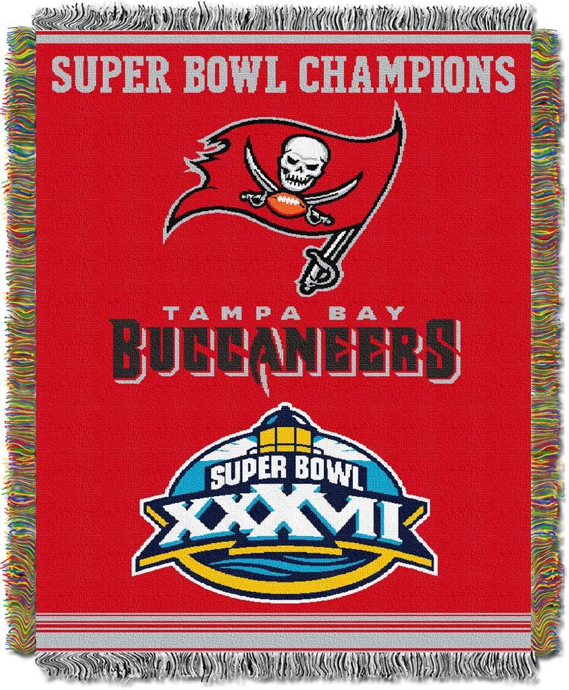 "Tampa Bay Buccaneers ""Commemorative"" 48"" x  60"" Tapestry Throw Blanket"