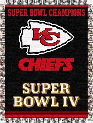 "Kansas City Chiefs ""Commemorative"" 48"" x  60"" Tapestry Throw Blanket"