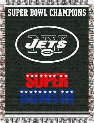 """Image of New York Jets """"Commemorative"""" 48"""" x 60"""" Tapestry Throw Blanket"""