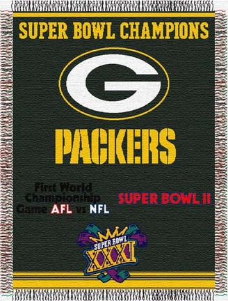 """Image of Green Bay Packers """"Commemorative"""" 48"""" x 60"""" Tapestry Throw Blanket"""