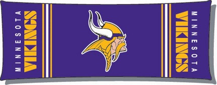 Official NFL Minnesota Vikings 19 x 48 Body Pillow  by Northwest Company