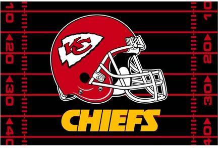 """Kansas City Chiefs 39"""" x 59"""" Acrylic Tufted Rug"""