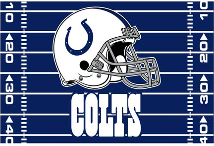"""Indianapolis Colts 39"""" x 59"""" Acrylic Tufted Rug"""