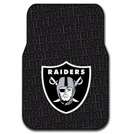 Oakland Raiders Rubber Car Floor Mats (Set of 2 Car Mats)