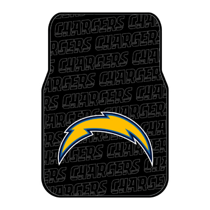 San Diego Chargers Rubber Car Floor Mats (Set of 2 Car Mats)