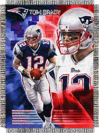 "Tom Brady New England Patriots NFL Licensed Players Series 48"""" x 60"""" Throw Blanket"" NW-1NFP051000006RET"