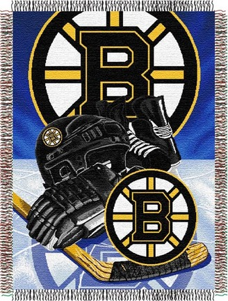 "Boston Bruins ""Home Ice Advantage""  48""x 60"" Tapestry Throw Blanket"