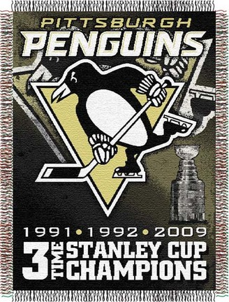 "Pittsburgh Penguins """"Commemorative"""" 48"""" x 60"""" Tapestry Throw"" NW-1NHL051400018RET"