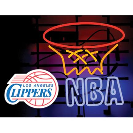 """Los Angeles Clippers """"El Glo"""" Neon Sign (23.5"""" x 17.5"""" x 6.5"""")"""